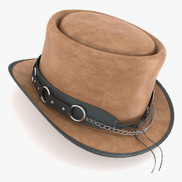 3d max western hat pecan usa