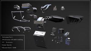big mech props pack 3d 3ds