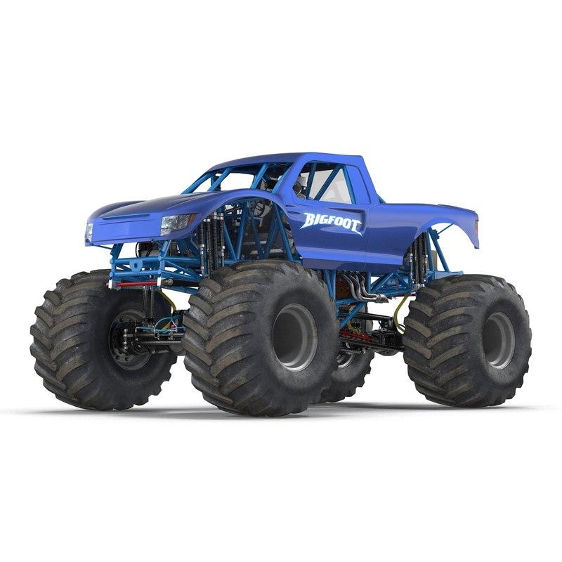monster truck bigfoot generic 3d model