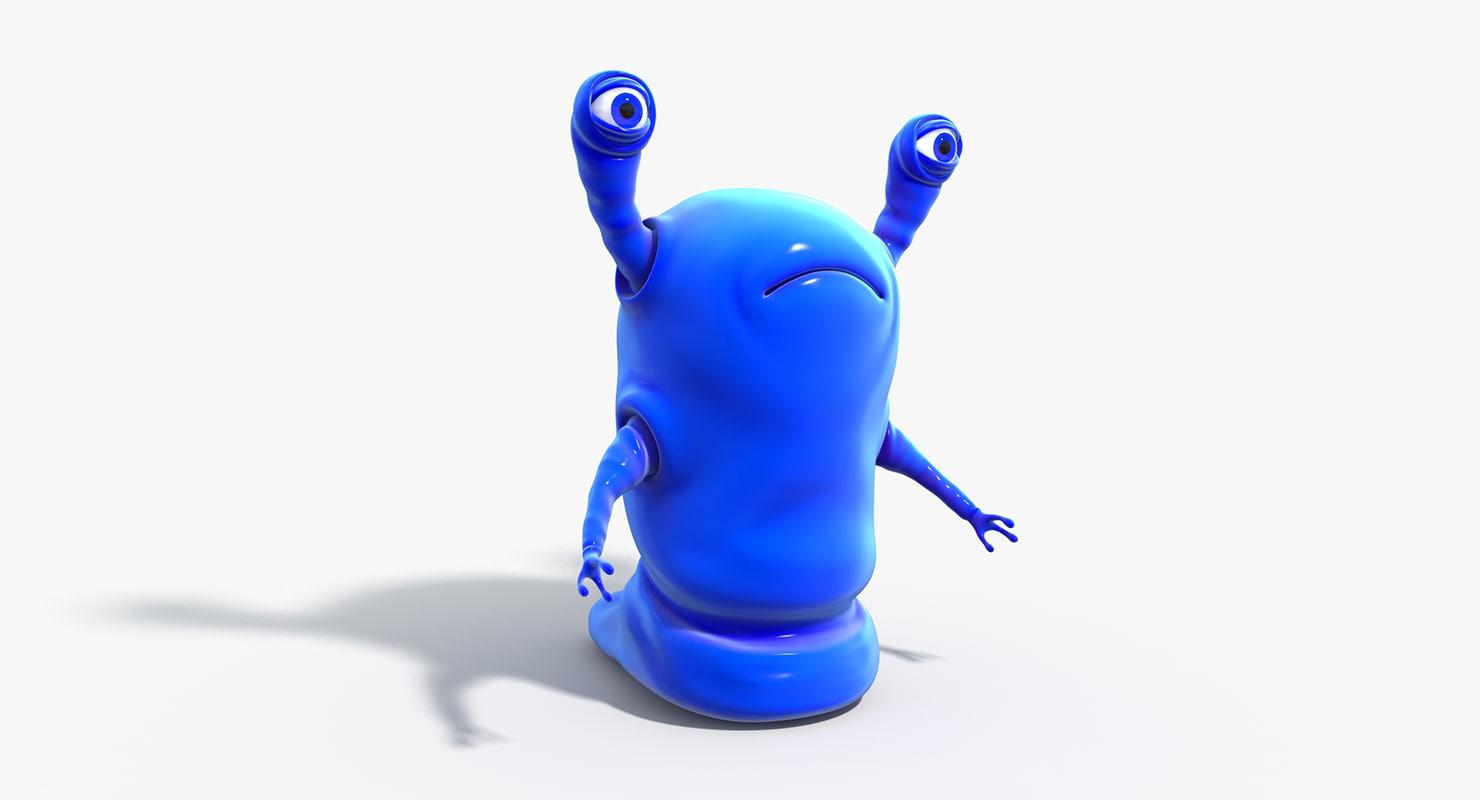 3d model alien worm paean
