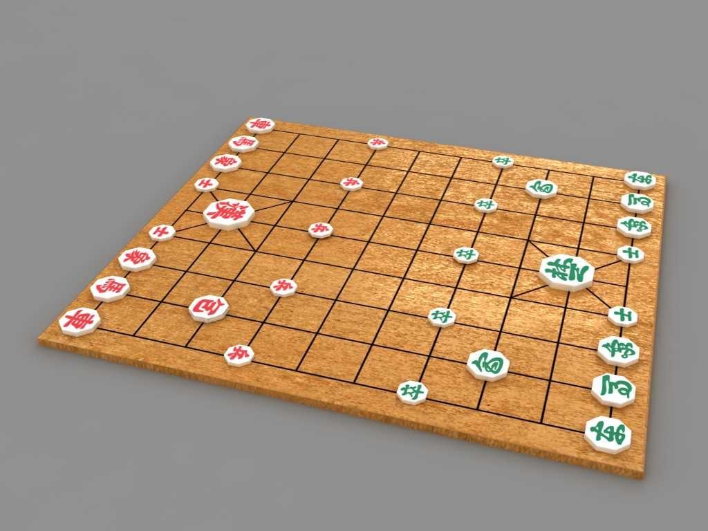 3d janggi korean chess model