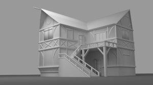 3d model of medieval tavern