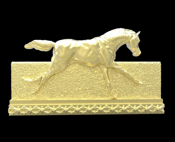 galloping horse 3 obj