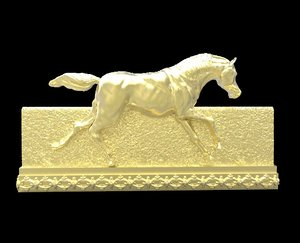 galloping horse 2 3d obj
