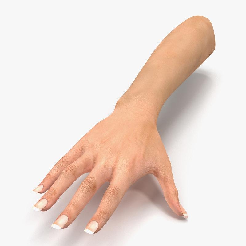 female hand 2 3d model