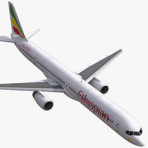 boeing 757-300 ethiopian airlines 3d model