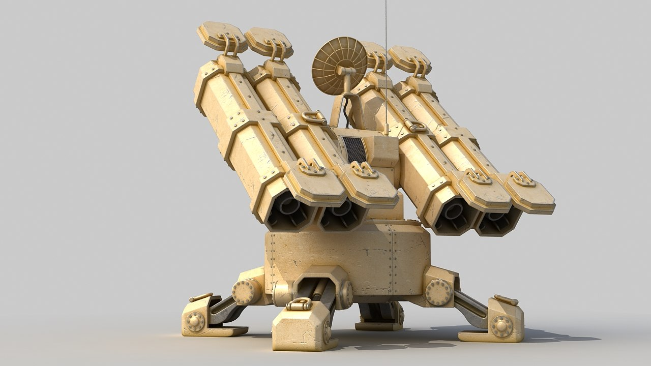 automatic missile turret 3d model