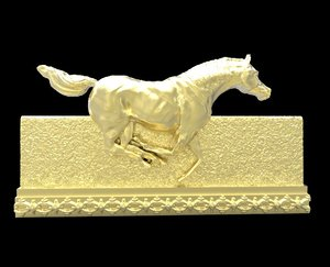 galloping horse 7 3d model