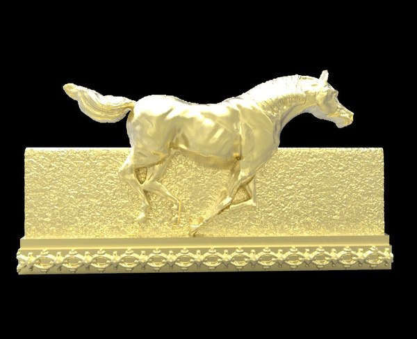 3d model galloping horse 6