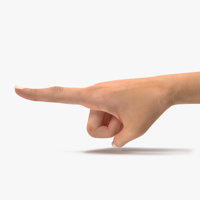 3d 3ds female hand 2 finger