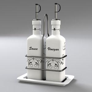 condiment bottle set 3ds
