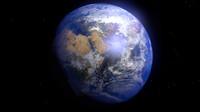 3d earth animation model