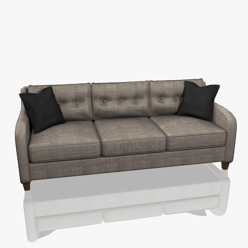 modern style sofa interior 3d model