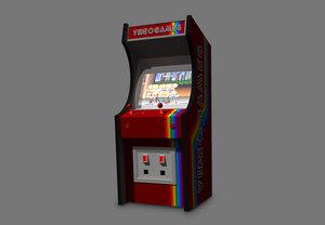 3d model coin op arcade machine