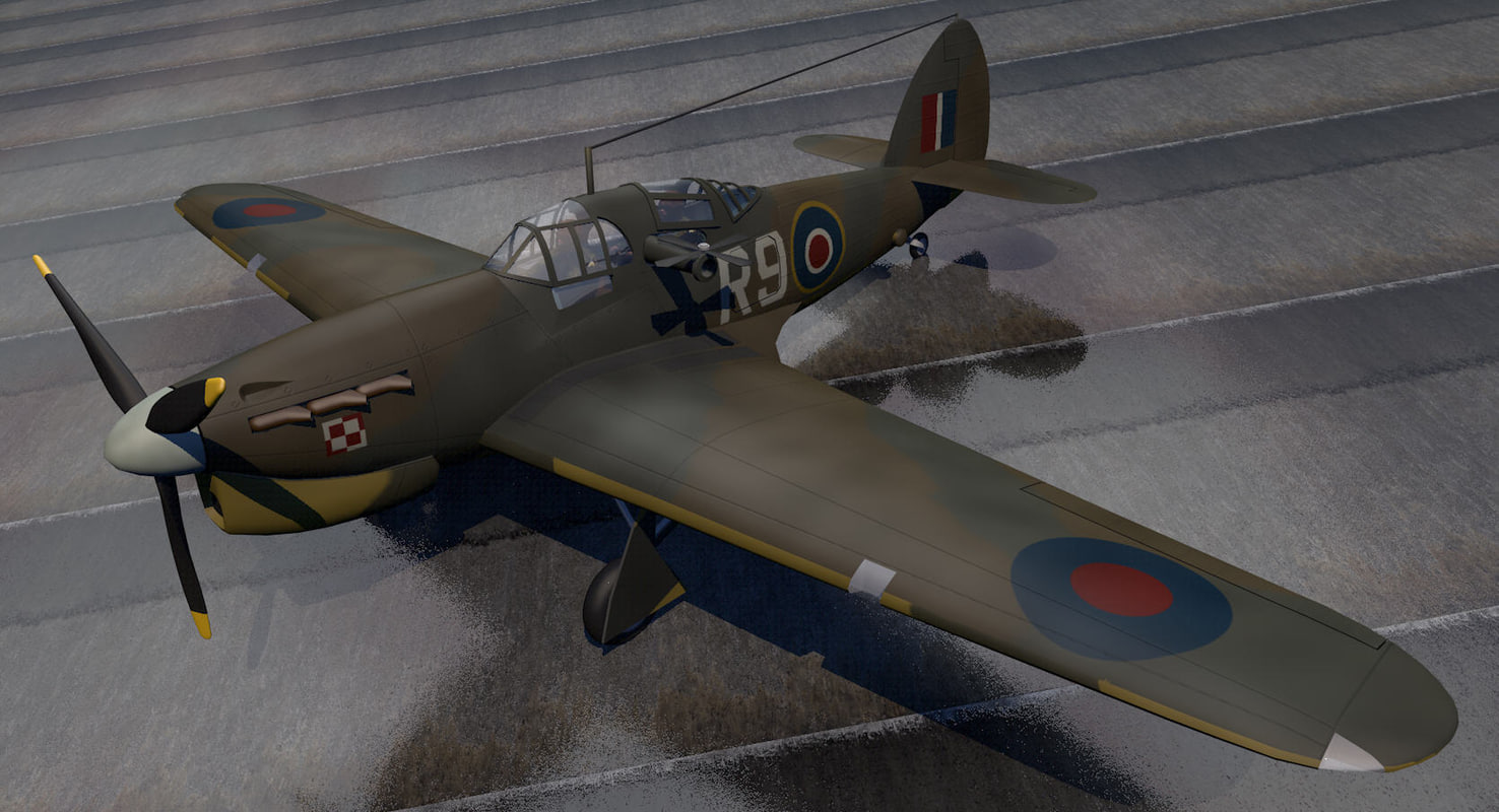 hawker henley mk-1 bomber 3d model