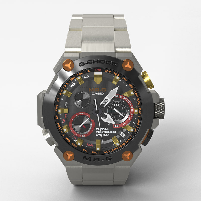casio g-shock mrg-g1000dg-1ajr 3d max