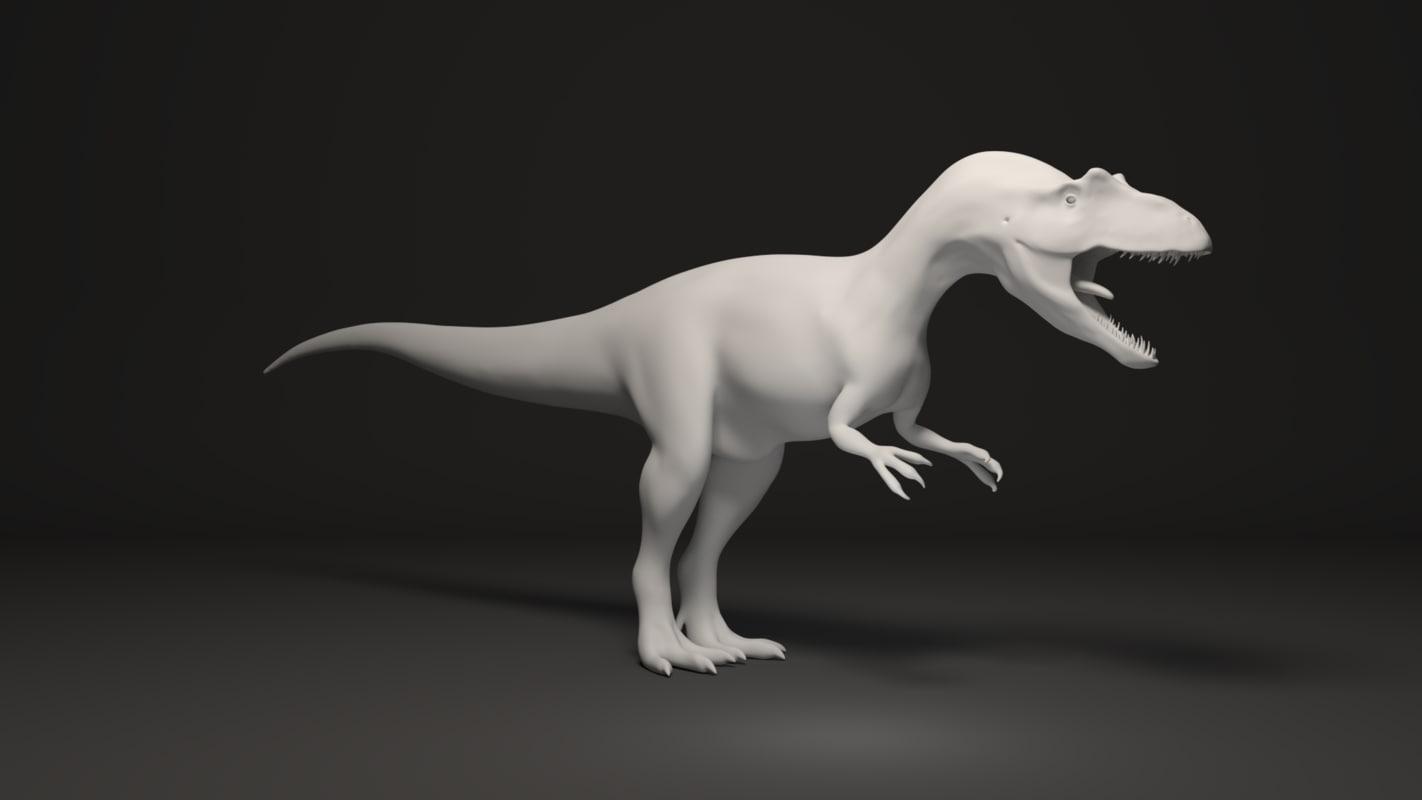 max basemesh allosaurus