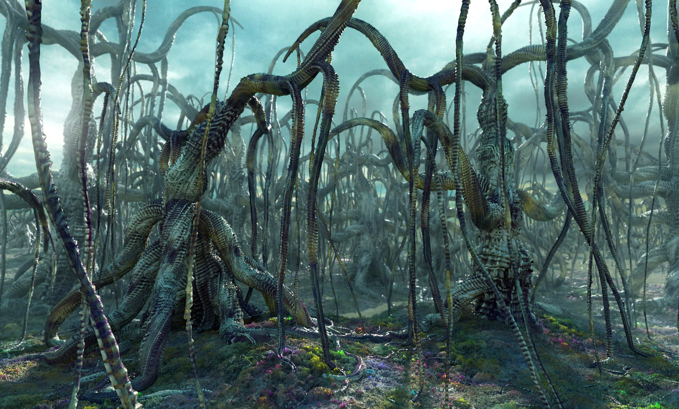 alien forest 3d max