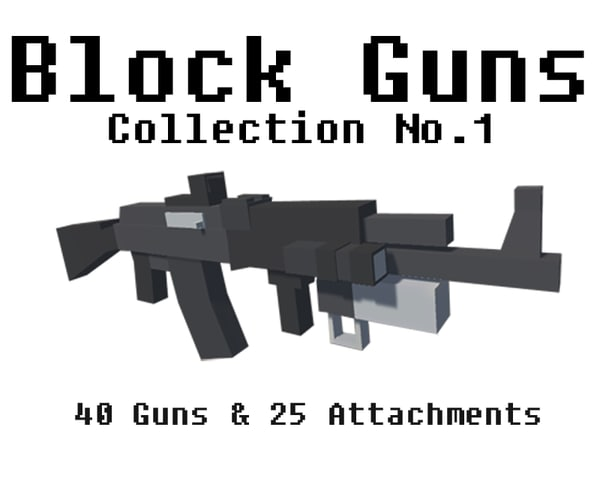 firearms unity package 3d max