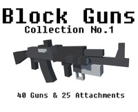 Block Guns Collection w Unity package