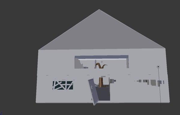 3d abandoned house model