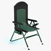 3d model of camping chair