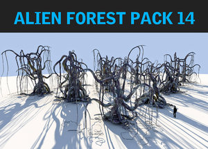 3d model alien forest pack 14