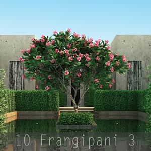 3 flower 10 tree 3d model