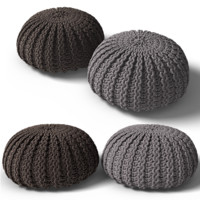 knitted pouf 3d 3ds