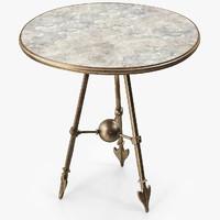 3d bronze table model