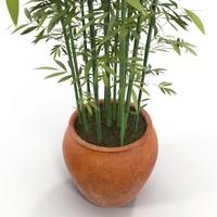 3d bamboo pot