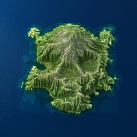 3d model tropical island terrain