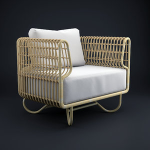3d model nest club chair