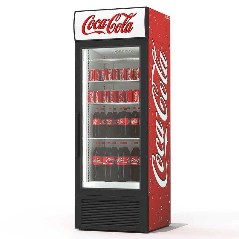 cola beverage fridge 3d max