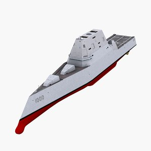 3d model uss zumwalt ddg-1000 guided missile