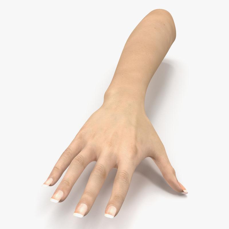 3d female hand 3 model