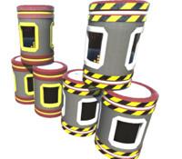 3d sci-fi barrels tetris