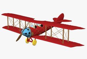 biplane plane 3d 3ds