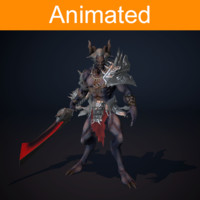 character demon animations 3d model