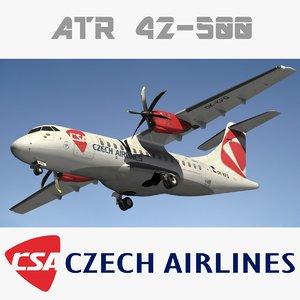3d model atr 42 csa czech