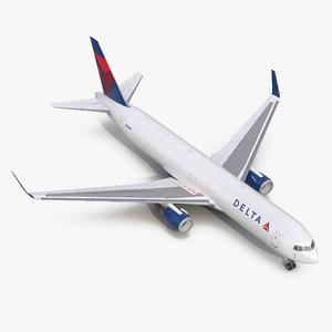 boeing 767-300f delta air lines 3d model