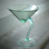 3d long drink glass model