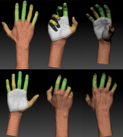 3d man s hand
