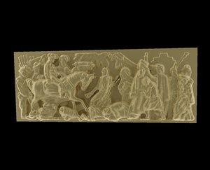 triumphal arch bas-relief reliefs 3d model