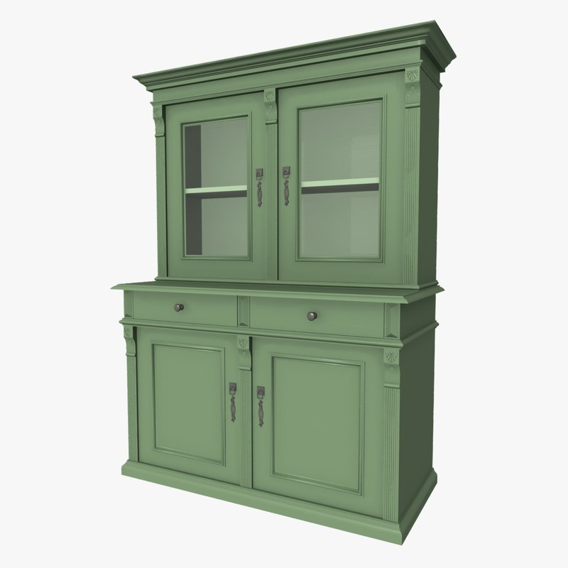 3d model antique cabinet