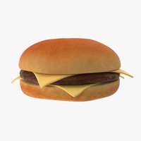 cheeseburger burger cheese obj