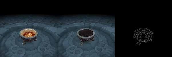 dungeon pit lighting set 3d model