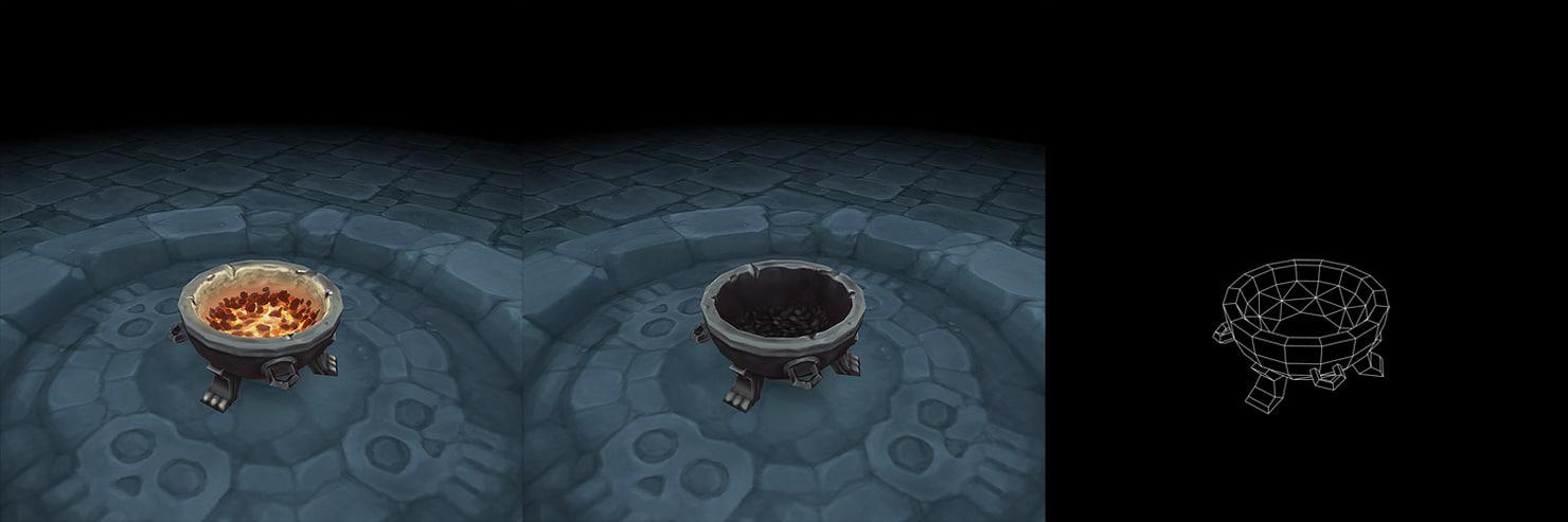 dungeon pit lighting set 3d model
