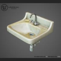 washbasin pbr faucet 3d obj