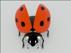 3d ladybird model